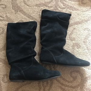 Steve Madden Slouch Tianna Boots in Black Suede